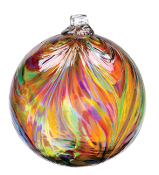 "Feather ball - 3""  Festive Multi"