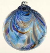 "Feather ball - 6"" Sapphire Sea"