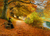 A Wooded Path in Autumn(Brendekilde)